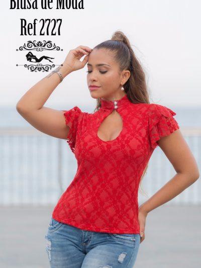 Blusa Colombiana Roja 2727