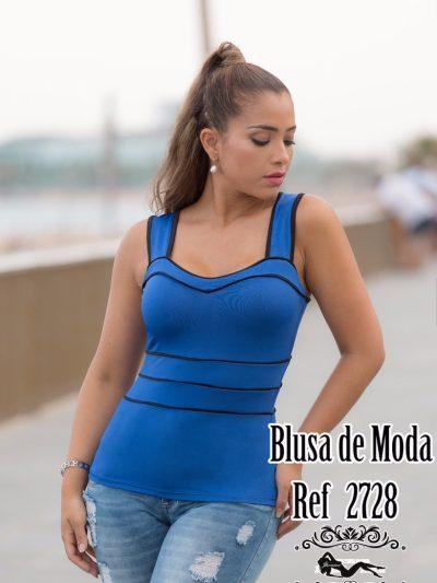 Blusa latina Azul 2728