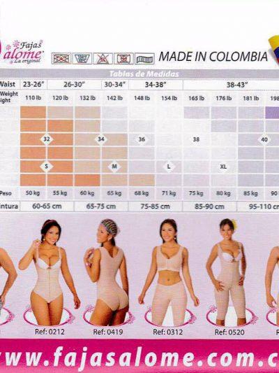 tabla de medidas